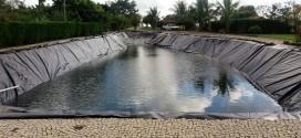 Revestimento com lona de Lagoas